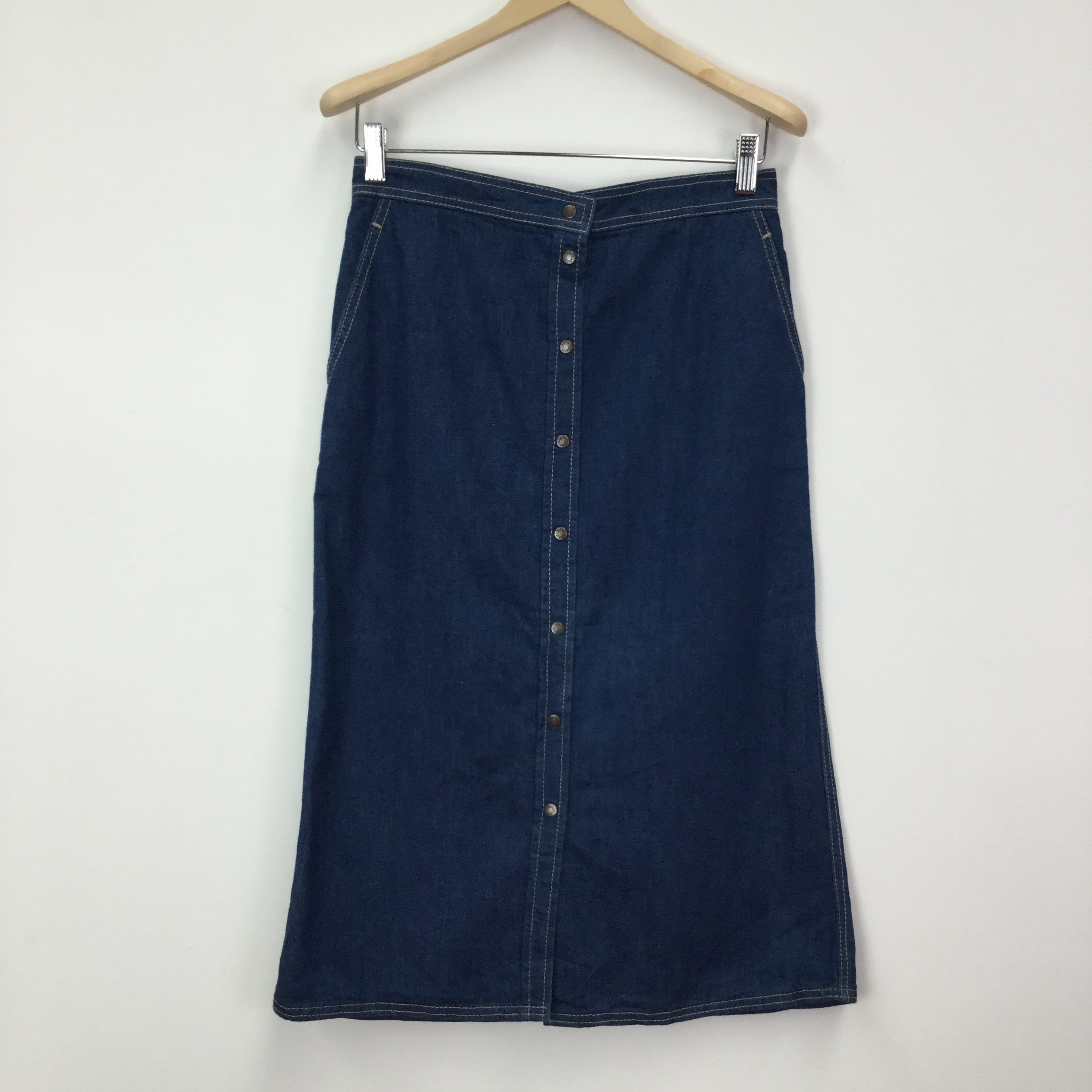 70s Vintage Union Made Calvin Klein Denim Skirt