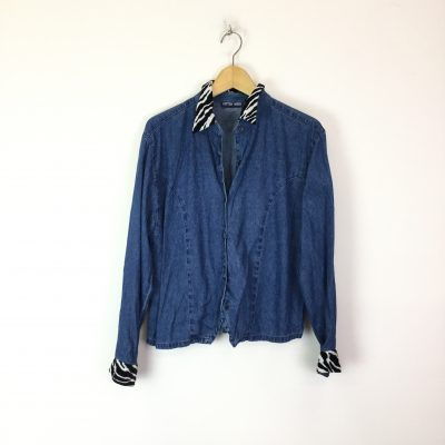 Vintage Zebra Denim Shirt