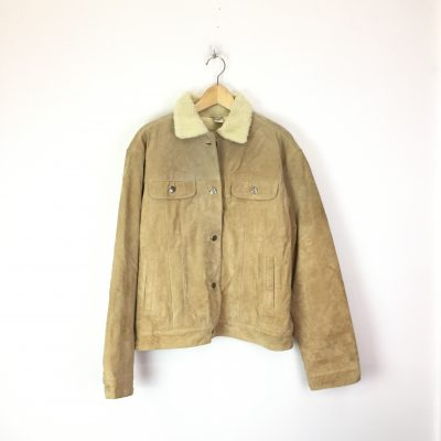 Vintage Shearling Leather Coat
