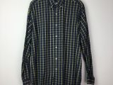 Vintage Ralph Lauren Dark Blue and Yellow Mini Check Shirt
