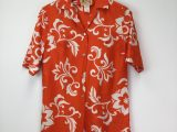 Vintage 1950's Orange Hawaiian Shirt