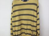 Vintage Y2K Tommy Hilfiger Yellow Striped Knitted Jumper